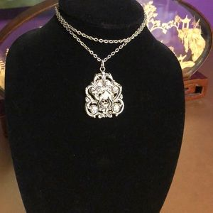 Silver Camel reversible hand of Fatima necklace